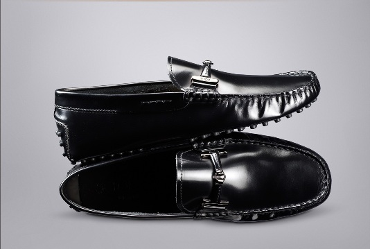 Tod's Black Calf Leather Moccasins