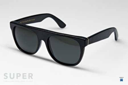 SUPER Leather Flat Top Sunglasses