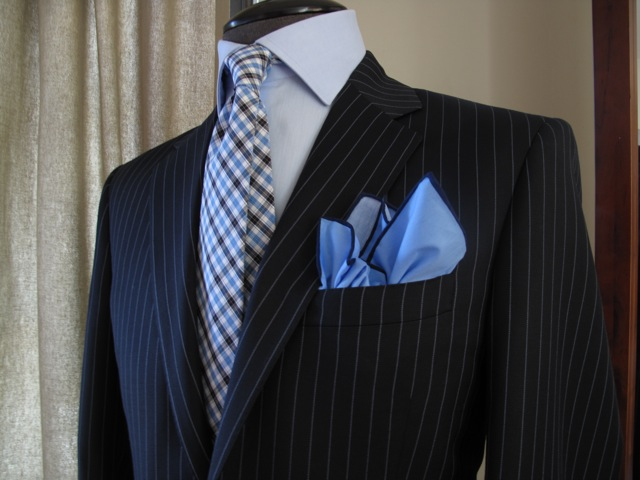 Black Pinstripe Suit Blue Shirt | My Dress Tip